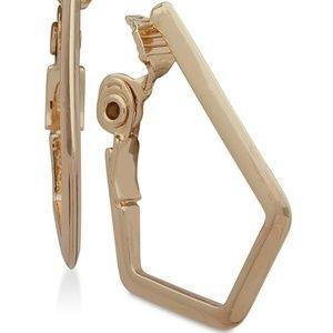 Geometric E-Z Comfort Clip-On Hoop Earrings